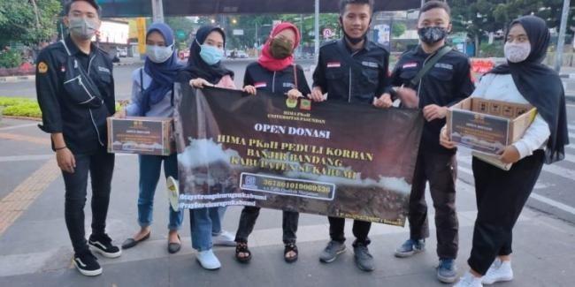 HIMA PKNH FKIP Unpas Menggalang Dana Untuk Korban Banjir Bandang Cicurug Sukabumi